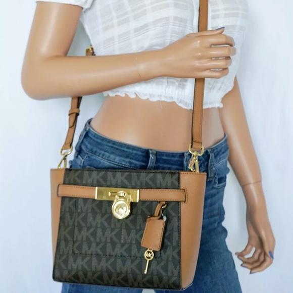 Michael Kors Hamilton MD Messenger Bag MK Brown NWT